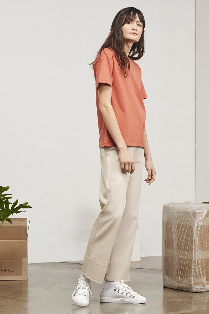 Kowtow Building Block Classic Fit T-Shirt - peach | GOOD AS GOLD | NZ