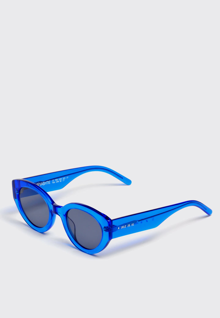 X Vashtie Abstract Sunglasses - blue/black