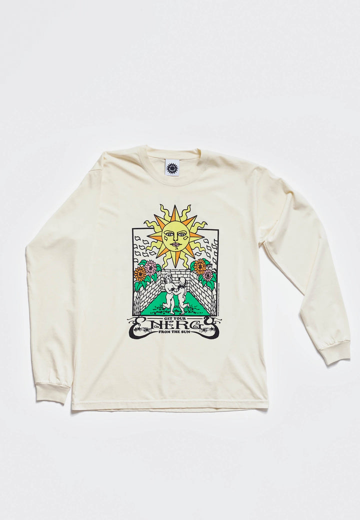 Energy From The Sun Long Sleeve T-Shirt - natural