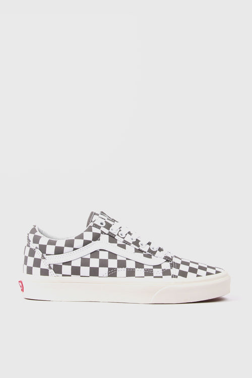 Old Skool Checkerboard - pewter/marshmellow