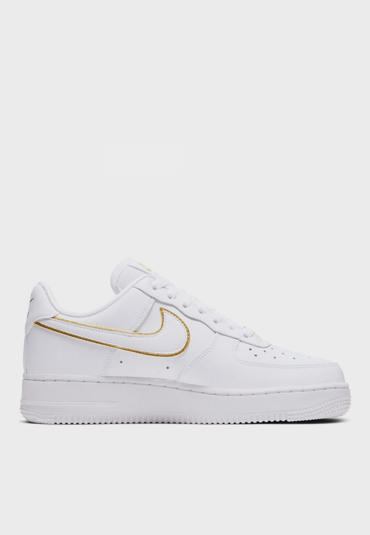 Nike | Womens Air Force 1 07 Essential - white/metallic gold | Good As Gold, NZ