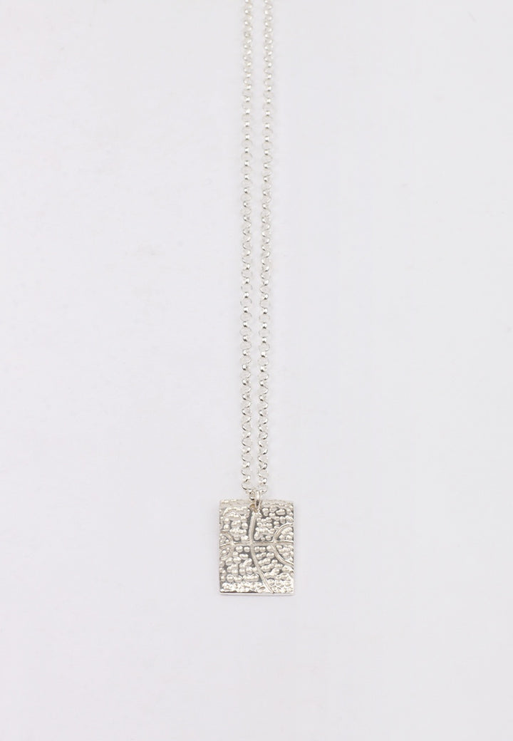 27Mollys Square Dot BBall Pendant Necklace - silver | GOOD AS GOLD | NZ