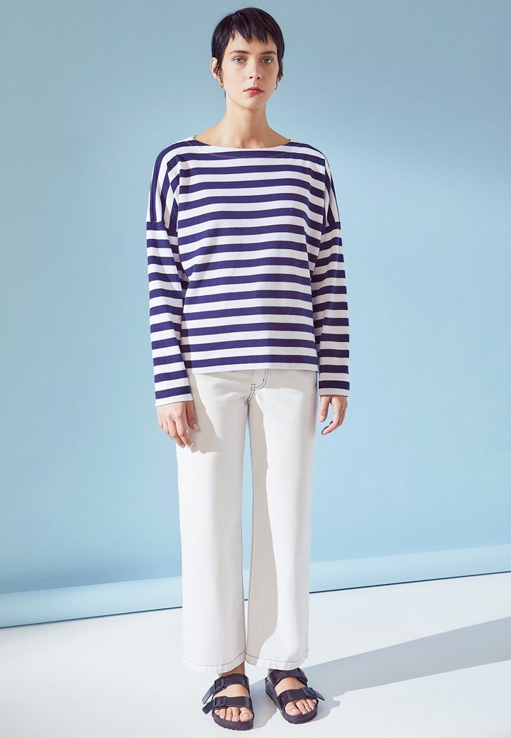 Kowtow | Building Block Breton Sweater - wide stripe | Good As Gold, NZ