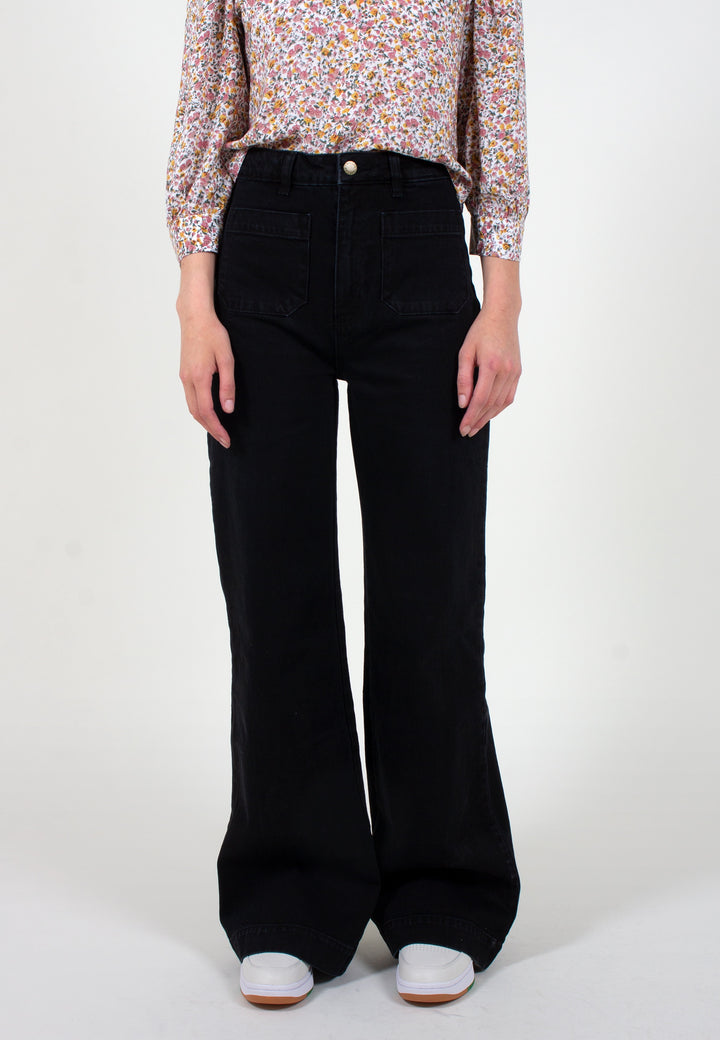 Sailor Long Jeans - jet black