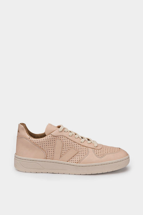 Veja V10 Leather Bastille - matt perf nude | GOOD AS GOLD | NZ