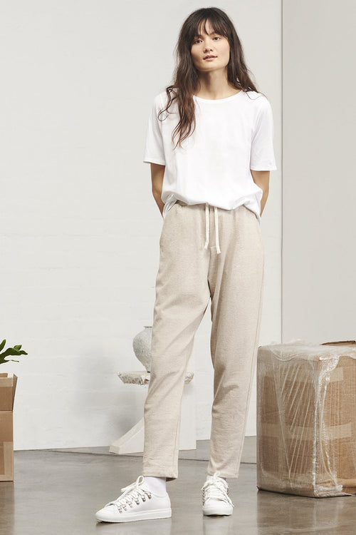 Kowtow Building Block Lounge Pant - natural marle | GOOD AS GOLD | NZ