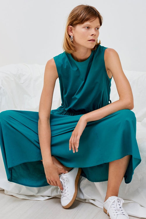 Kowtow Echo Dress - emerald – Good as Gold