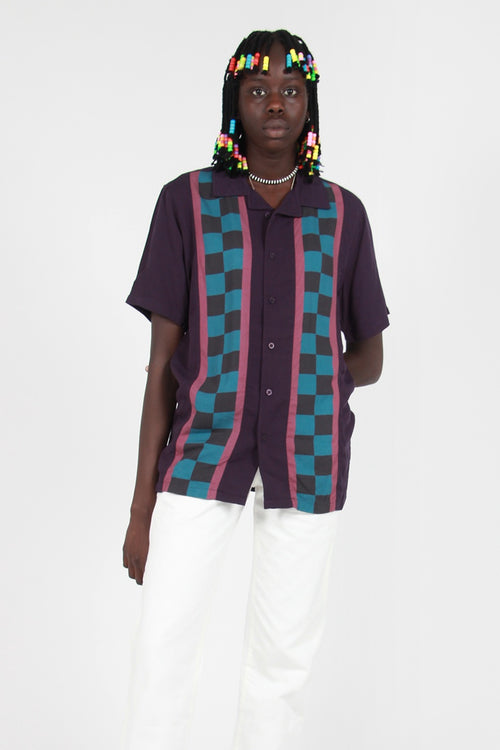 Lazy Oaf Check Stripe Shirt - blue – Good as Gold