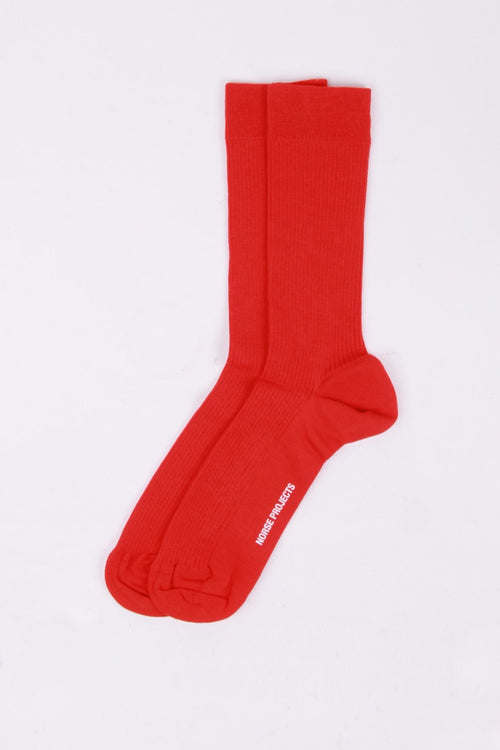 Norse Projects Bjarki Combed Cotton Socks - coral red | GOOD AS GOLD | NZ