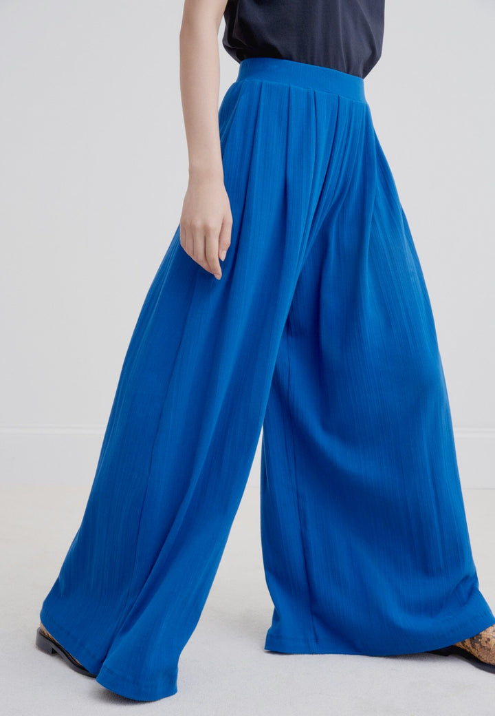 Building Block Drape Pant - electric blue