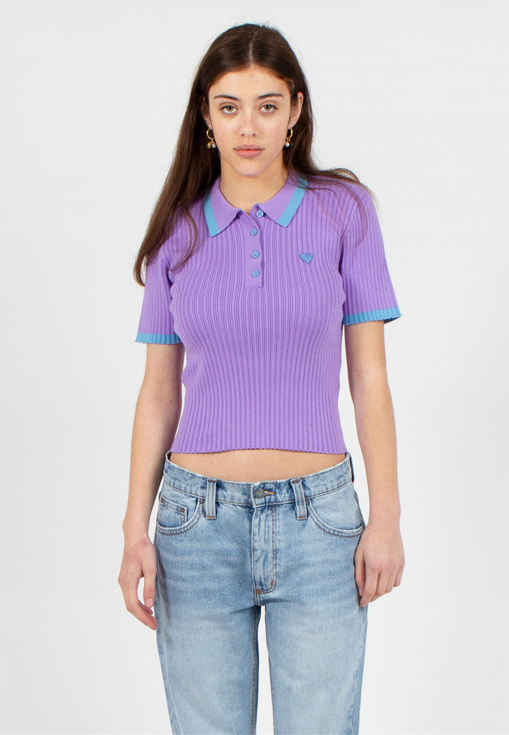 Tiny Heart Polo Knit