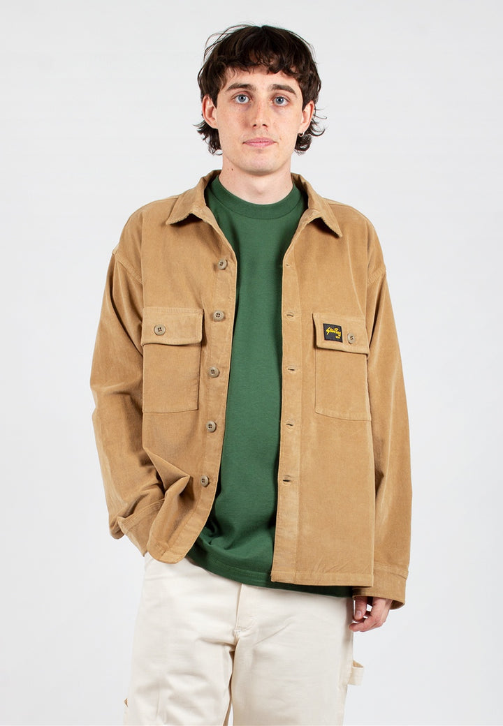 Stan Ray | Cord CPO Shirt - khaki cord | Good As Gold, NZ
