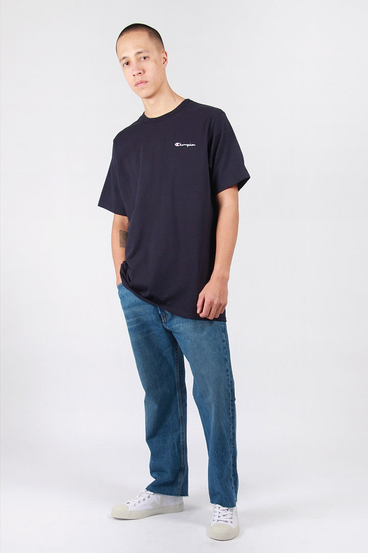 Champion Script Logo Heritage T-Shirt - navy | GOOD AS GOLD | NZ