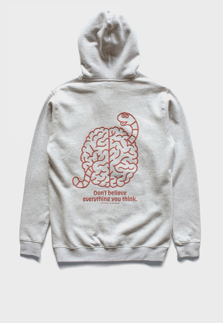 No Comply | Bad Brain hoodie - grey | Good As Gold, NZ
