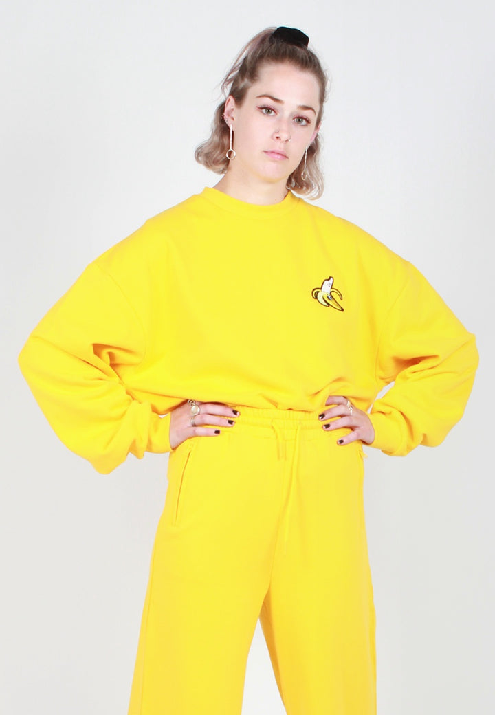 Lazy Oaf Banana Sweater - yellow - Good As Gold