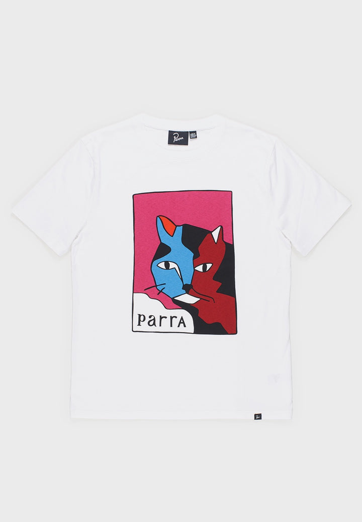 Parra | Earl The Cat T-Shirt - white | Good As Gold, NZ