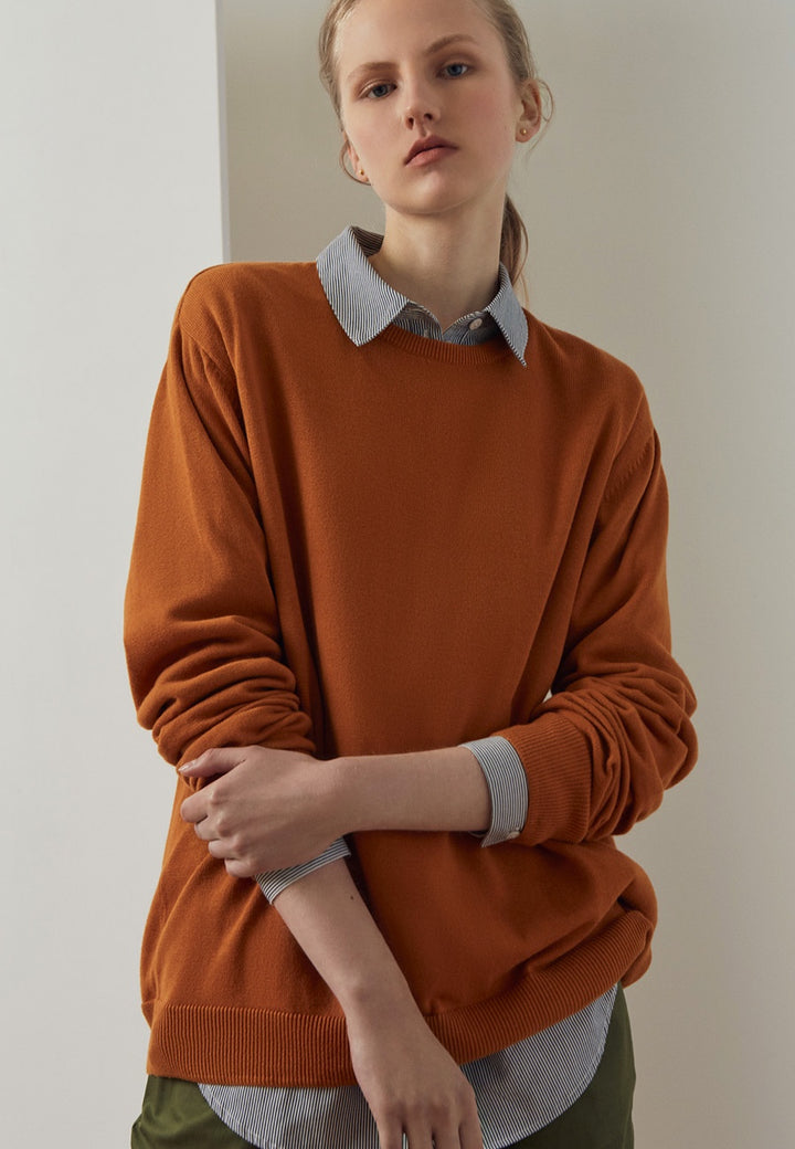 Kowtow | Knit Boyfriend Sweater - rust | Good As Gold, NZ