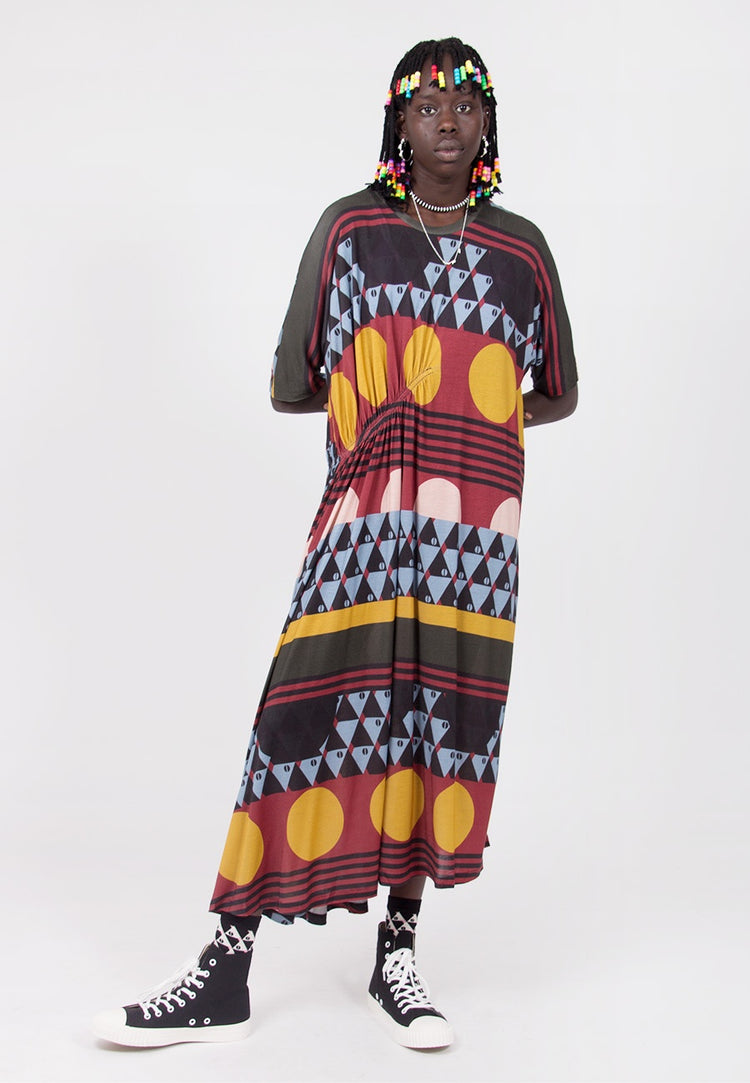 Delight Dress - dark turkish print