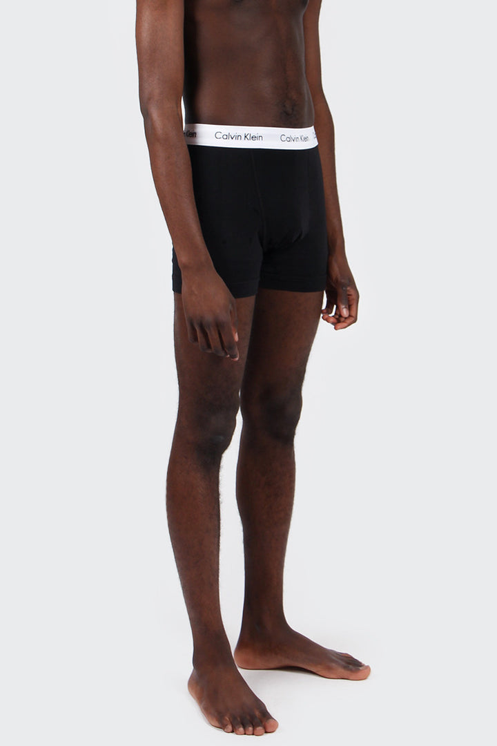 Calvin Klein Cotton Stretch Trunk 3 Pack - black | GOOD AS GOLD | NZ