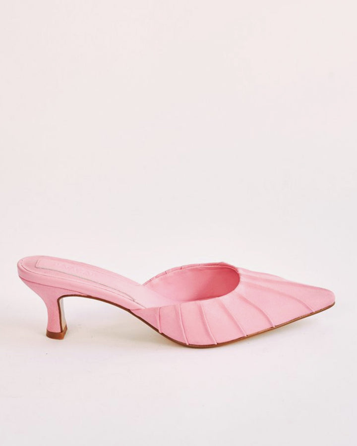 Jaggar | Ruched Kitten Heel - candy pink | Good As Gold, NZ