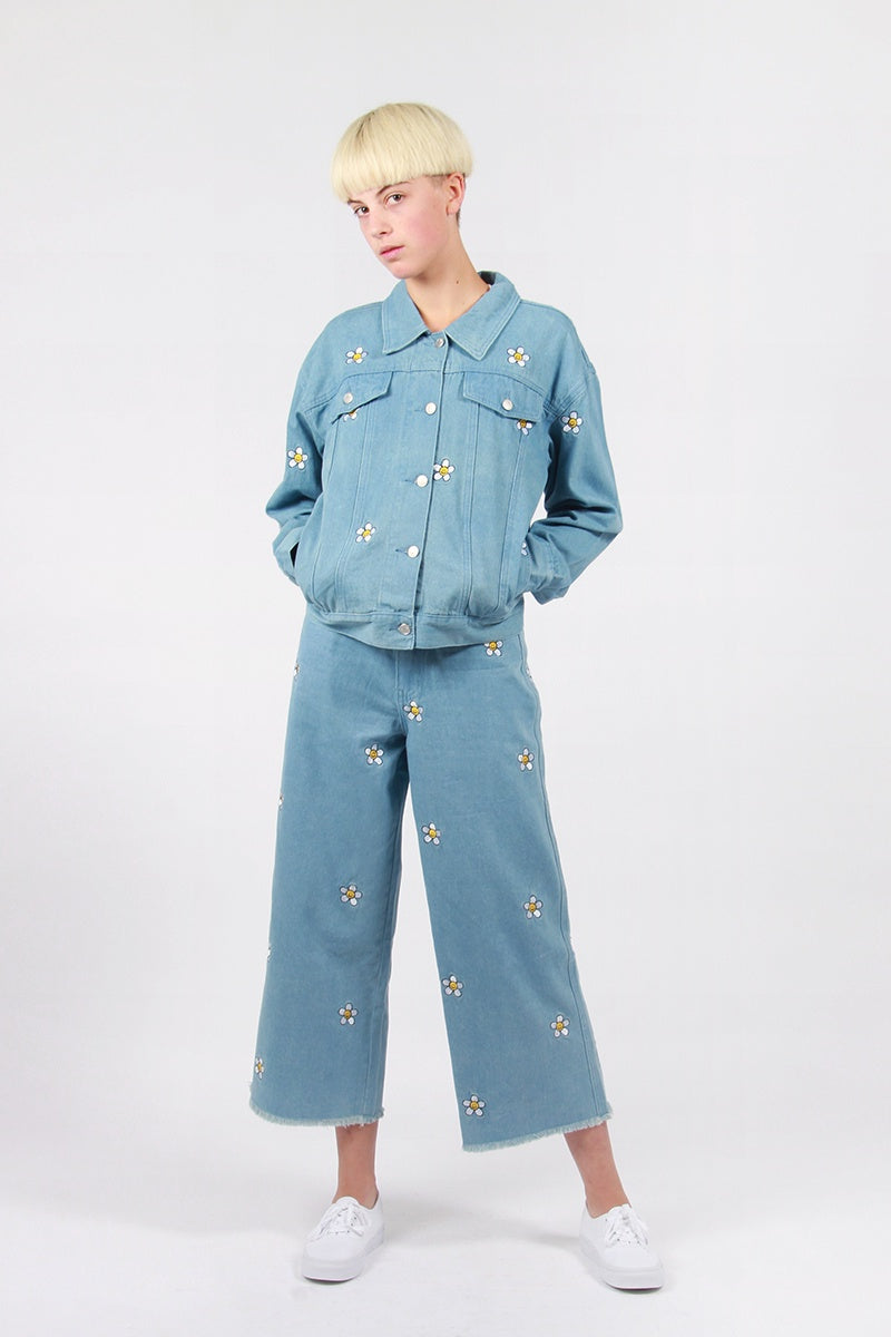 Lazy Oaf Daisy Denim Jacket - blue | GOOD AS GOLD | NZ