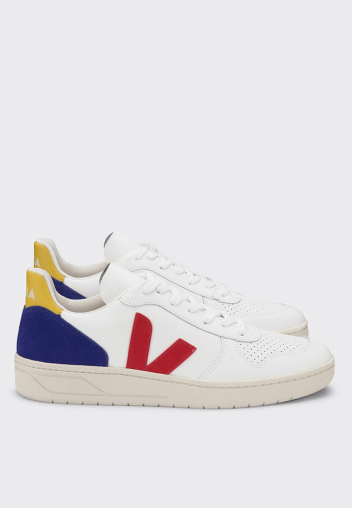 Veja | V10 Leather - extra white/pekin/cobalt/tonic | Good As Gold, NZ