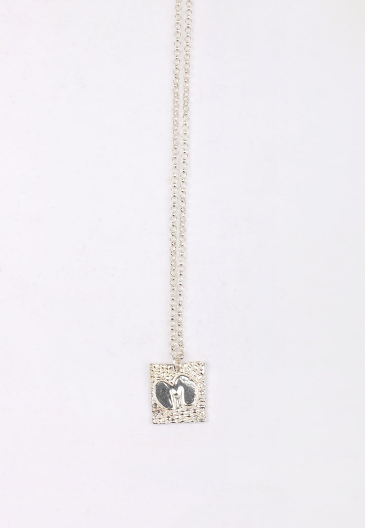 27Mollys XX M Square Pendant Necklace - silver | GOOD AS GOLD | NZ