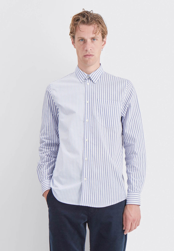 Timothy Stripe Shirt - blue stripes