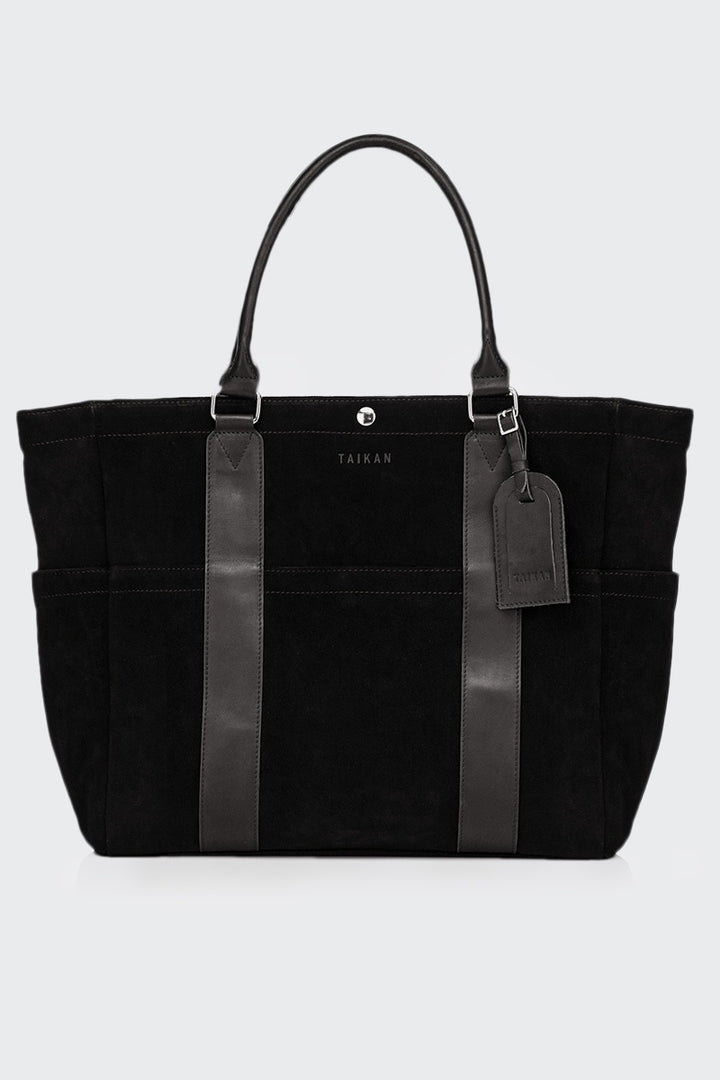 Taikan Everything Sherpa Tote Bag - black suede | GOOD AS GOLD | NZ