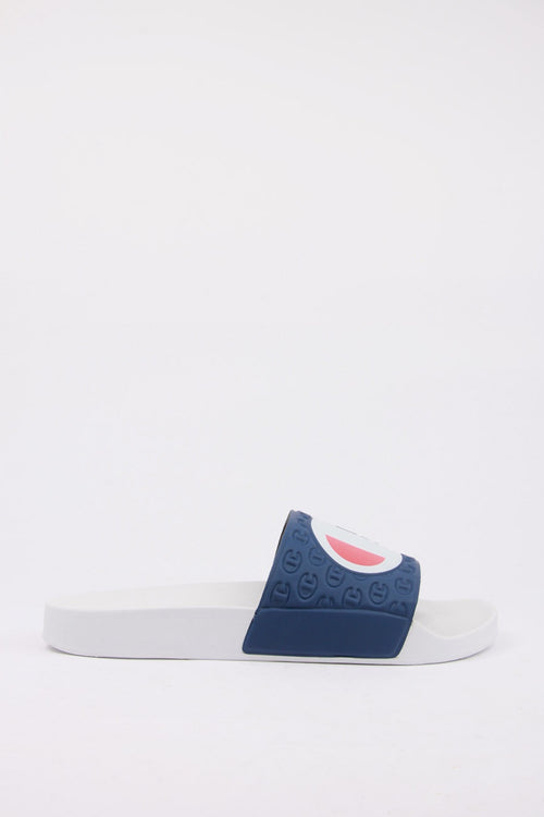 Champion Europe Slide - white/navy | GOOD AS GOLD | NZ