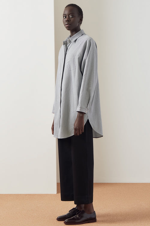 Kowtow Oversized Shirt - classic stripe — Good as Gold