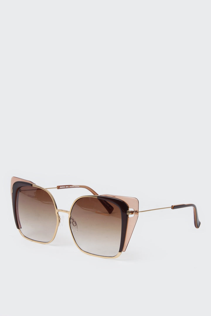 Kaibosh Queen Bee Sunglasses - brown pollen/gold | GOOD AS GOLD | NZ