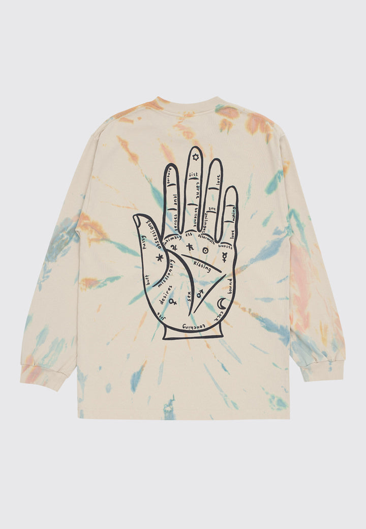 Handy Fortune Long Sleeve T-Shirt - tie die beige