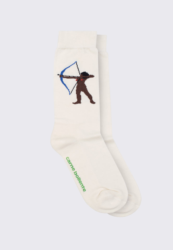 Jerk Me If You Can Socks - white