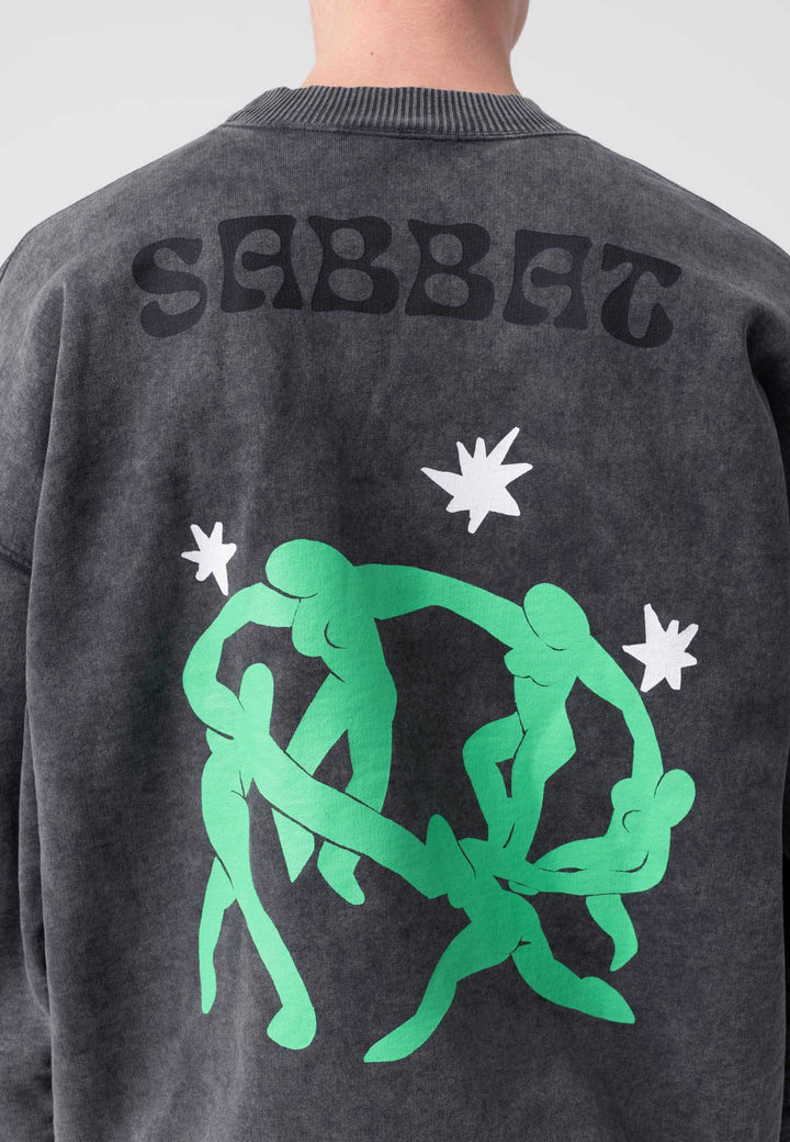 Sabbat Longue Crew - washed black