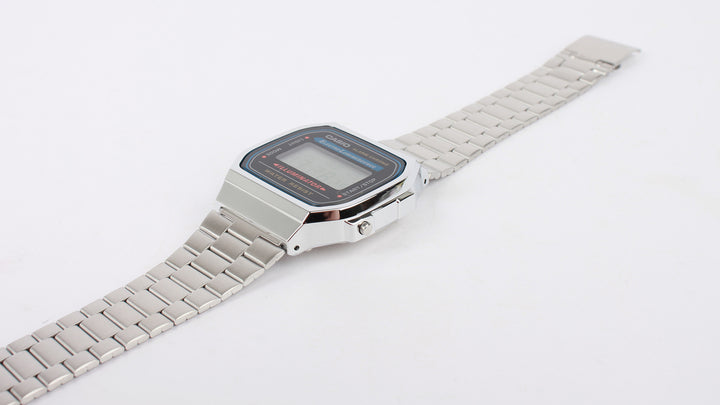 Classic Digital Watch (A168WA-1W) - silver/black