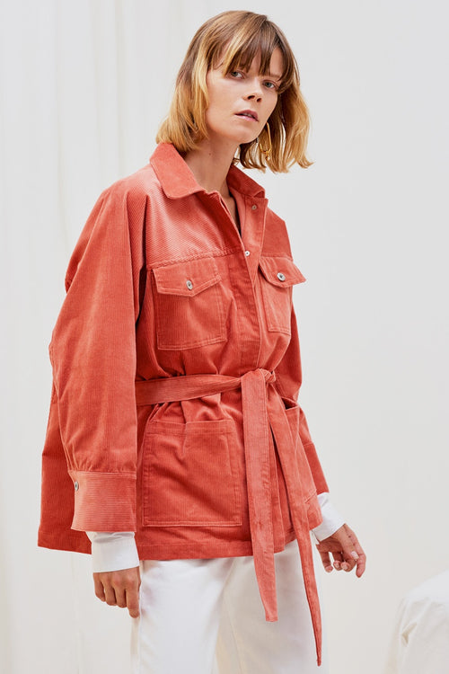 Kowtow Monument Jacket - peach cord | GOOD AS GOLD | NZ