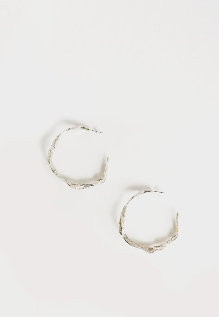 By Nye Edith Hoop Earrings - silver - Good As Gold
