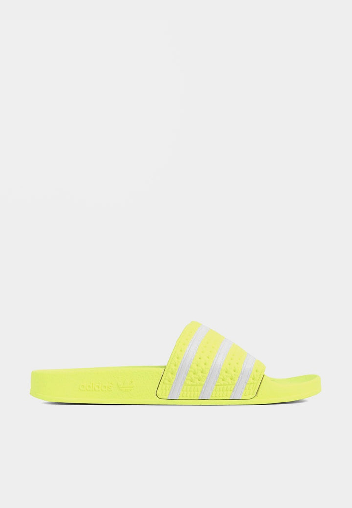 Adilette - neon yellow/white