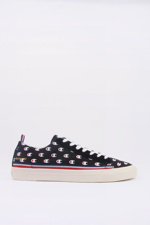 Champion Europe Mercury Low Canvas - black c logo | GOOD AS GOLD | NZ