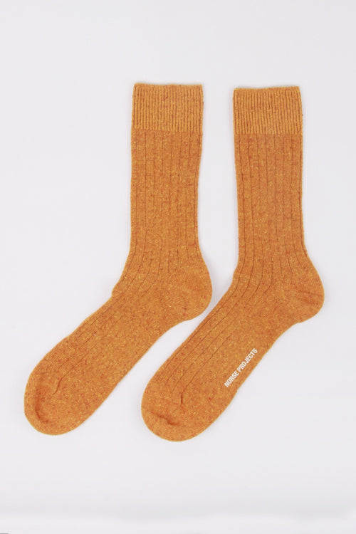 Bjarki Neps Socks - mustard yellow