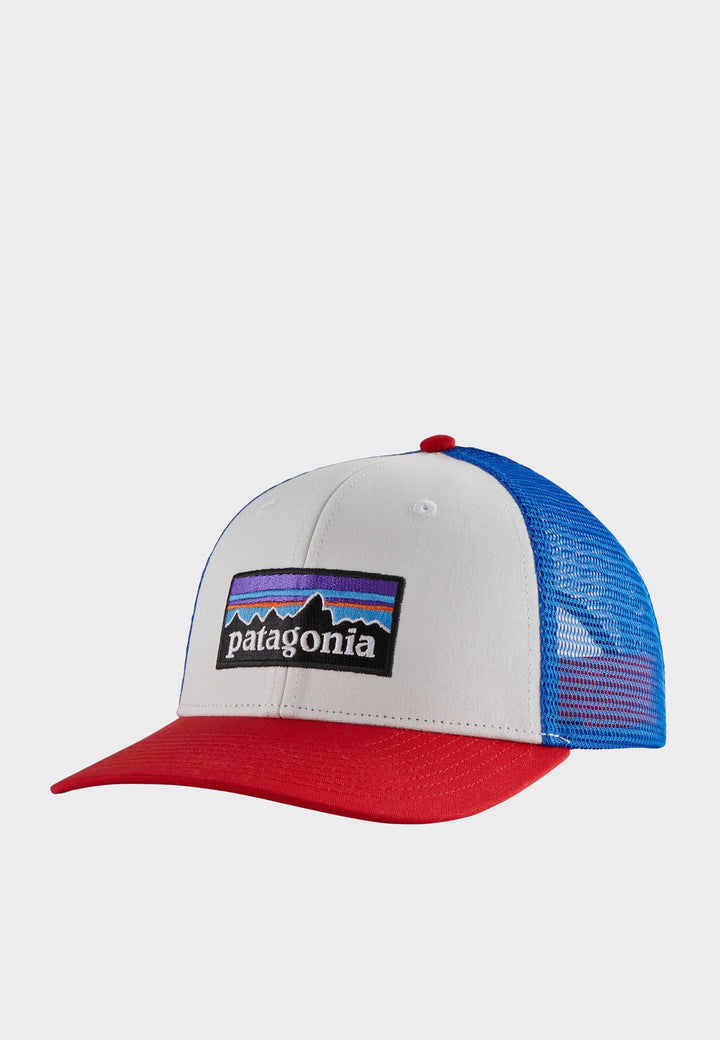P-6 Logo Trucker Hat - white/red/blue