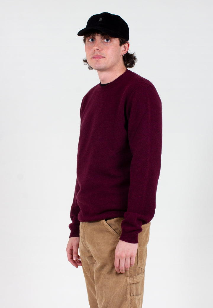 Norse Projects | Sigfred Lambswool - mulberry red | Good As Gold, NZ
