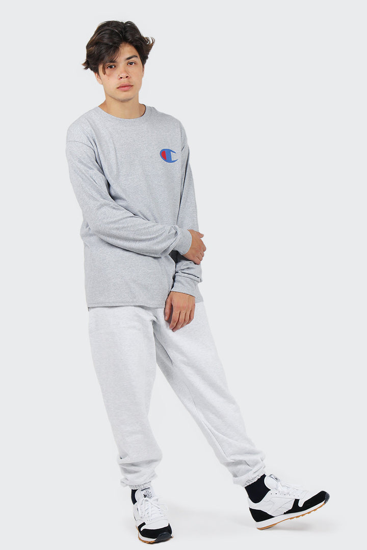 Champion Big C Long Sleeve T-Shirt - oxford grey | GOOD AS GOLD | NZ