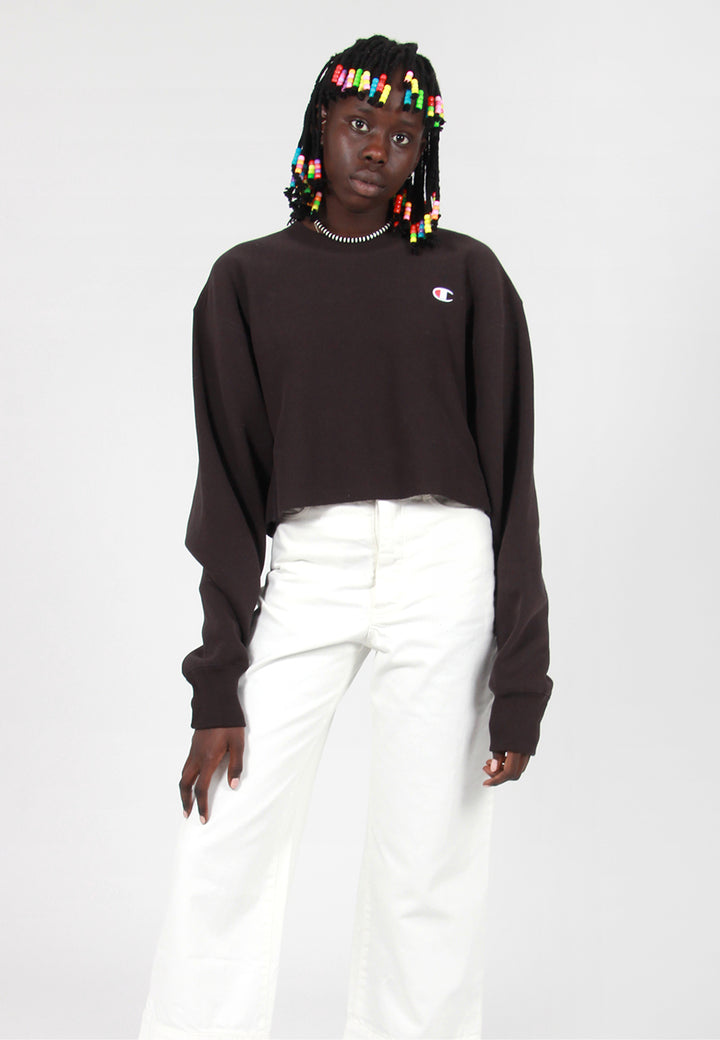 Champion W Reverse Weave Cropped Sweater - black – Good as Gold
