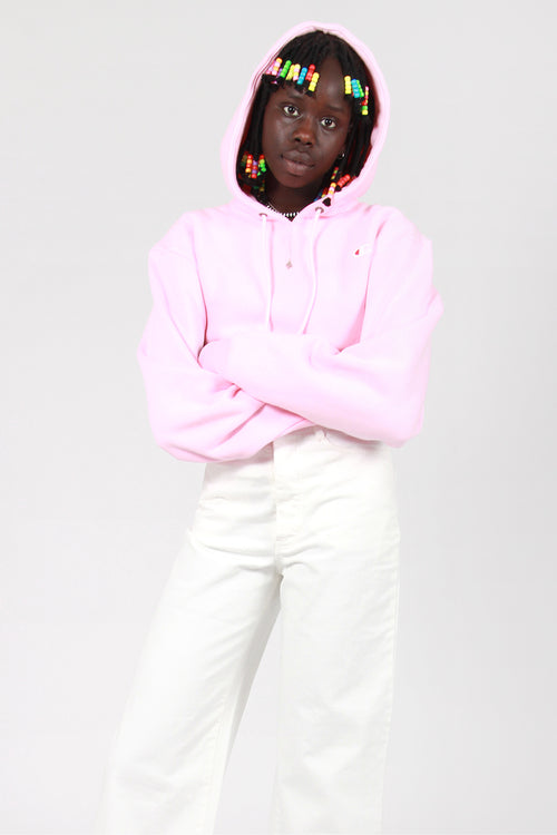Champion Womens Reverse Weave Cropped Hoodie - candy pink – Good as Gold