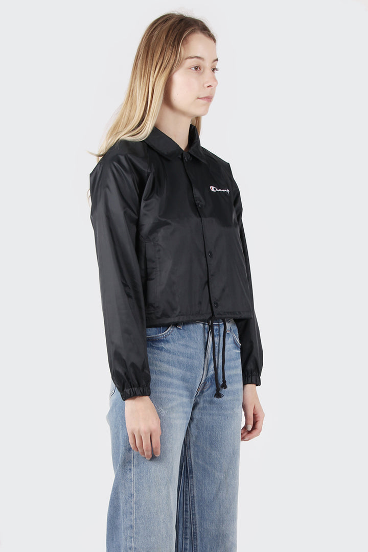 Champion Cropped Coaches Jacket - black | GOOD AS GOLD | NZ