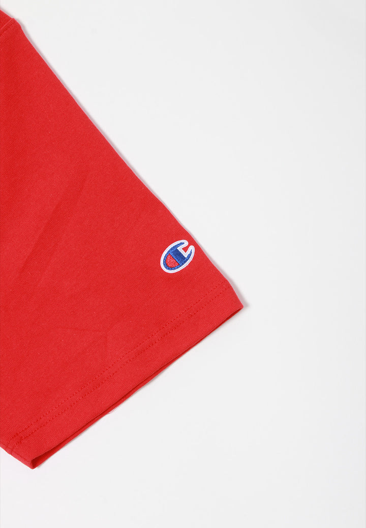 Champion Script Logo Heritage T-Shirt - team red — Good as Gold