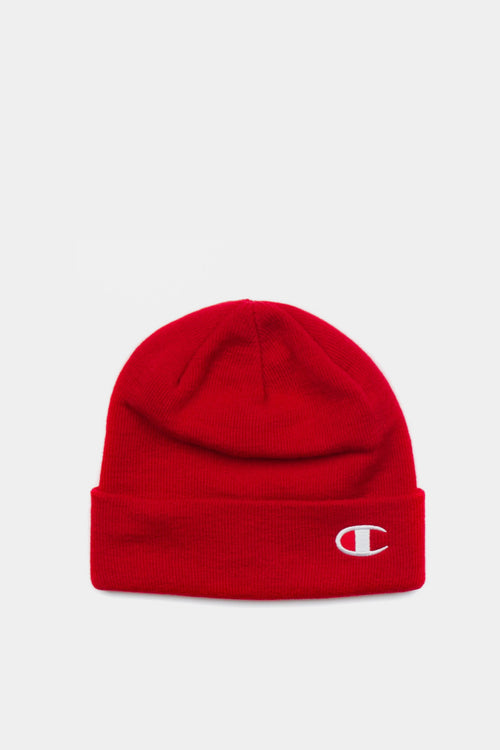 Champion Logo Beanie - red – Good as Gold