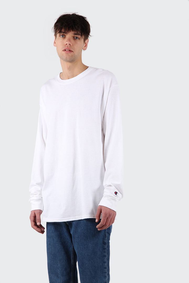 Champion Blank Long Sleeve T-Shirt - white | GOOD AS GOLD | NZ